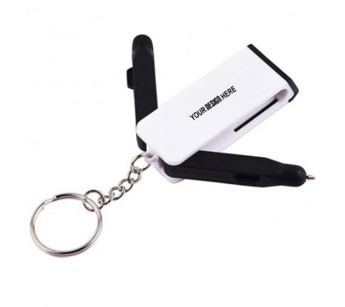 Mobile Stand Keychain With Pen