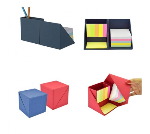 Folding Paper Cube in Color