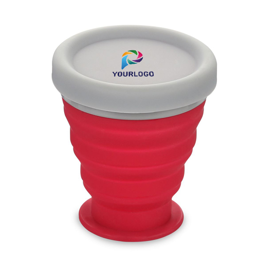 Folding Silicon Cup with Cap