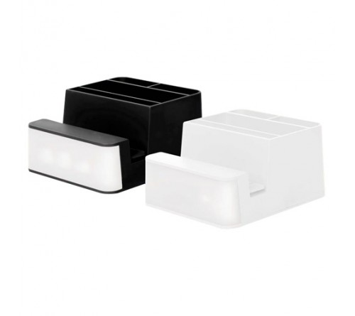 Logo Glow Mobile Stand With Pen Visiting Card Holder