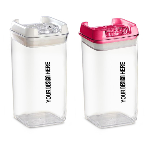 Set of 2 Multipurpose Air Tight Containers with Easy Lock Lid