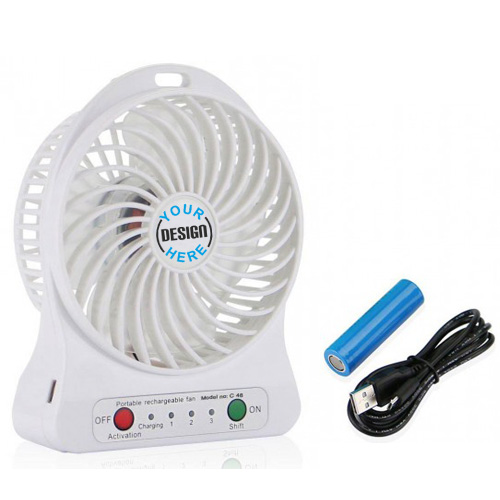 3 Speed Portable Fan with Emergency Power Bank