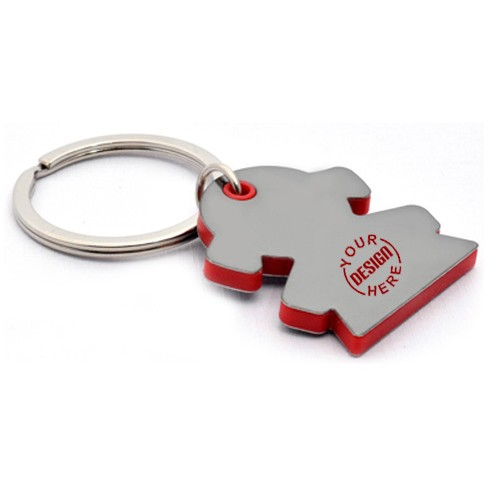 Girl Shape Keychain with Highlights