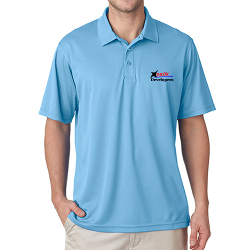 Printed dry fit polos custom logo dri fit golf shirts for Custom dry fit shirts